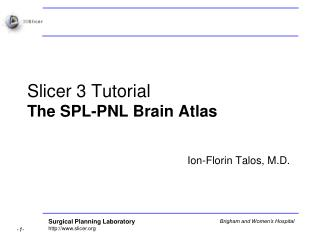 Slicer 3 Tutorial The SPL-PNL Brain Atlas