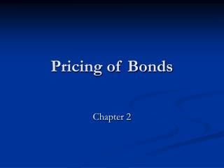 Pricing of Bonds