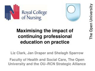 Maximising the impact of continuing professional education on practice