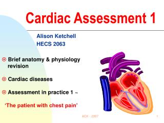 Cardiac Assessment 1