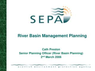 River Basin Management Planning