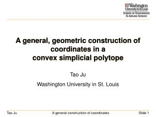 A general, geometric construction of coordinates in a  convex simplicial polytope