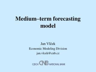 Medium–term forecasting model