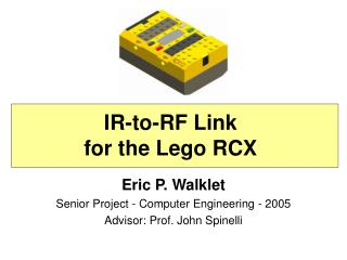 IR-to-RF Link for the Lego RCX