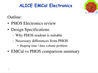 ALICE EMCal Electronics