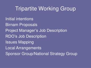 Tripartite Working Group