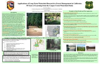 Applications of Long-Term Watershed Research to Forest Management in California: