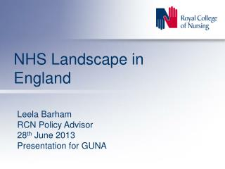 NHS Landscape in England