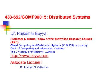 433-652/COMP90015: Distributed Systems