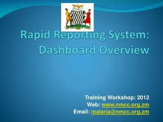 Rapid Reporting System: Dashboard Overview