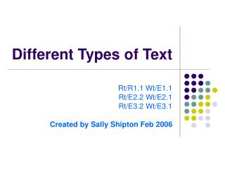 Different Types of Text