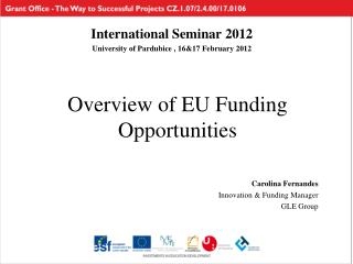 Overview of EU Funding Opportunities