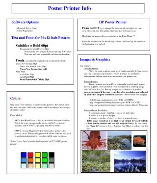 Software Options -Microsoft Power Point 	-Adobe Pagemaker
