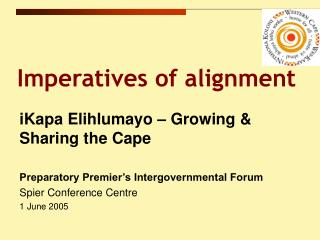Imperatives of alignment