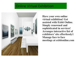 Online Virtual Exhibition
