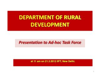 DEPARTMENT OF RURAL  DEVELOPMENT