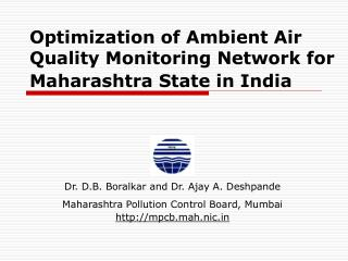 Optimization of Ambient Air Quality Monitoring Network for Maharashtra State in India
