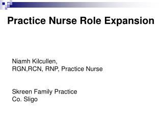 Practice Nurse Role Expansion