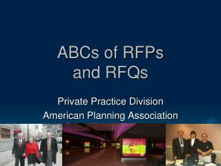 ABCs of RFPs  and RFQs