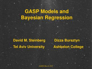 GASP Models and Bayesian Regression