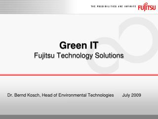 Green IT Fujitsu Technology Solutions