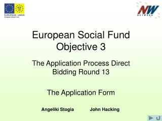 European Social Fund Objective 3