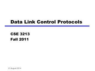 Data Link Control Protocols