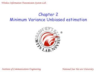 Chapter 2 Minimum Variance Unbiased estimation