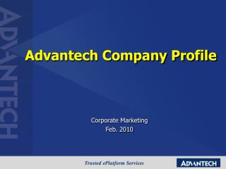 Advantech Company Profile