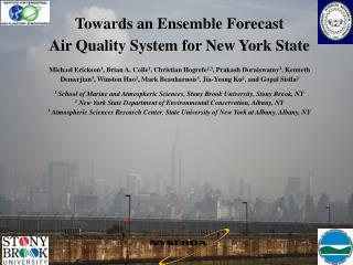 Towards an Ensemble Forecast  Air Quality System for New York State