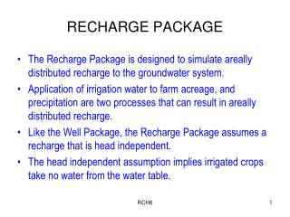 RECHARGE PACKAGE