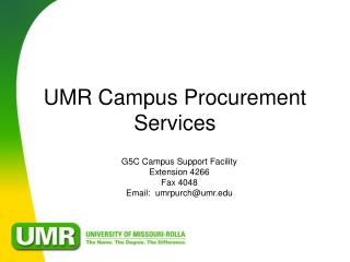 UMR Campus Procurement Services