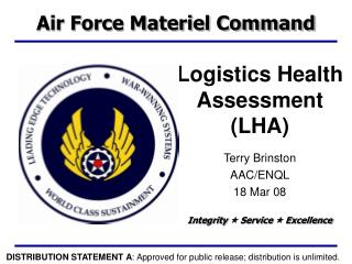Logistics Health Assessment (LHA)