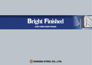 Bright Finished  Cold rolled steel sheets