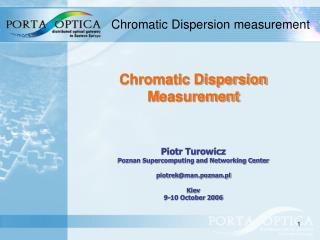 Chromatic Dispersion measurement