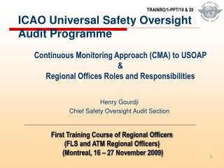 ICAO Universal Safety Oversight Audit Programme