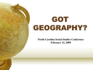 GOT GEOGRAPHY?