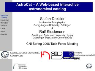 AstroCat – A Web-based interactive astronomical catalog