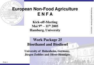 European Non-Food Agriculture E N F A