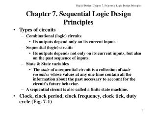 Chapter 7. Sequential Logic Design Principles
