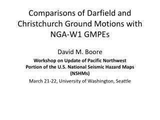 Comparisons of  Darfield  and Christchurch Ground Motions with NGA-W1 GMPEs