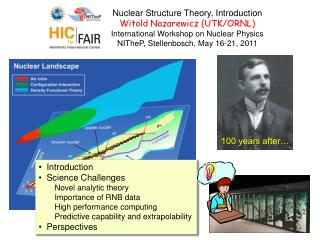 Nuclear Structure Theory, Introduction Witold Nazarewicz (UTK/ORNL)