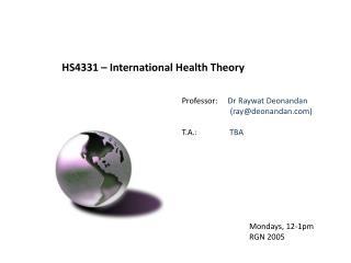 HS4331 – International Health Theory