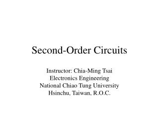 Second-Order Circuits