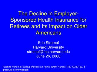 The Decline in Employer-Sponsored Health Insurance for Retirees and Its Impact on Older Americans