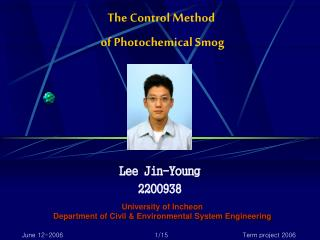 The Control Method  of Photochemical Smog