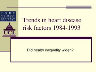Trends in heart disease risk factors 1984-1993