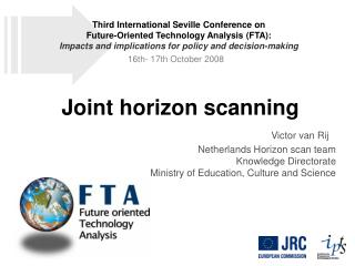 Joint horizon scanning