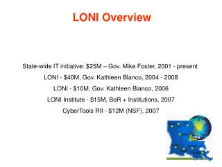 LONI Overview