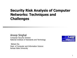 Security Risk Analysis of Computer Networks: Techniques and Challenges
